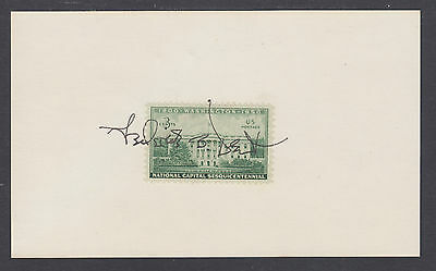 Frederick B. Dent, US Commerce Secretary, signed 3x5 card with White House stamp