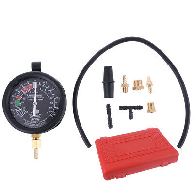 New Fuel Pump Vacuum Tester Gauge Leak Carburetor Pressure Diagnostics with Case
