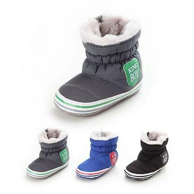 Fashion Toddler Baby Girl Boy Snow Booties Antiskid Soft Crib Shoes Winter Boots