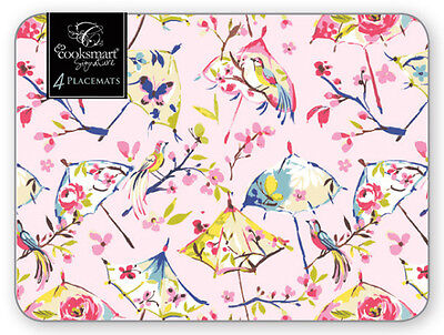 Cooksmart Paradiso Placemats Set of 4 Birds of Paradise Pink Table Mat 29x21.5cm