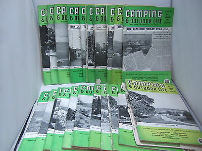 27 x Camping and Outdoor Life Magazine 1959-1962