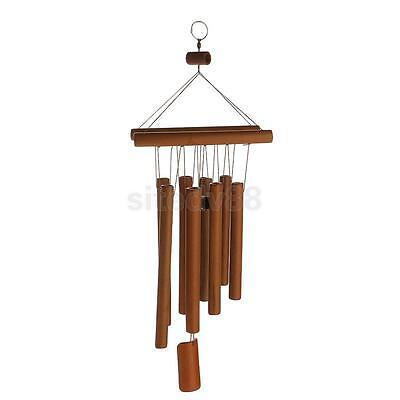 Bamboo Raft 8 Tube Wind Chimes Mobile Windchime Church Bell Hanging Decor
