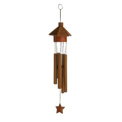 Pavilion Bamboo Tube Wind Chimes Mobile Windchime Church Bell Hanging Decor