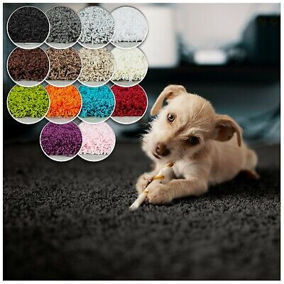 Soft Modern Thick Shaggy Rugs Contemporary Fluffy Warm Colour Size Carpet