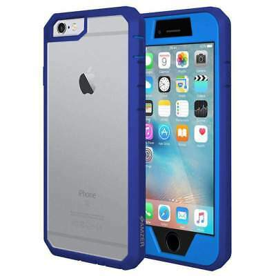 For iPhone 6 6s Full Body Hybrid Shell Case Cover Screen Protector - Blue