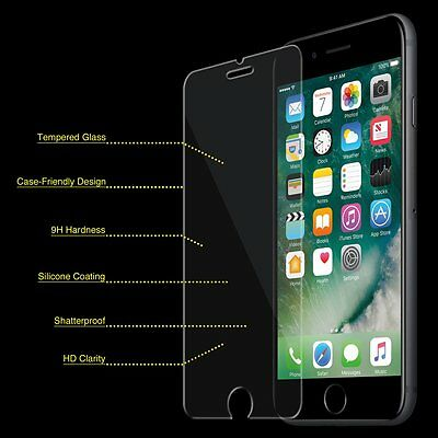 20 x Wholesale LOT iPhone 7 Tempered GLASS Screen Protector Bubble Free