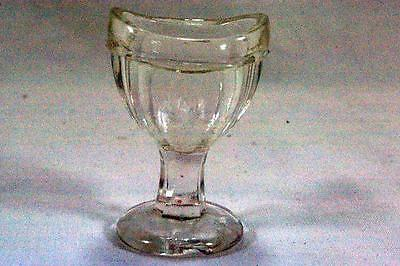 Marked G 8 Panel Optic Depression Glass Eye Wash Cup