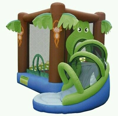 Action Air Crocodile Airflow Bouncy Castle And Slide New!!!£250