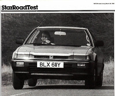 Honda Prelude Excutive Star Road Test from Motor Magazine March 1983