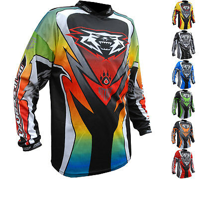 Wulf Attack Adult Motocross Jersey Off Road Dirt Enduro Breathable MX Adventure