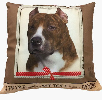 Pitbull Pillow 16×16 Polyester