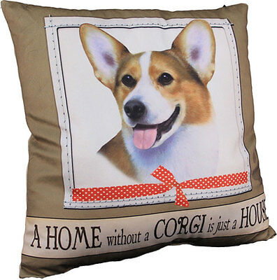 Corgi Pillow 16×16 Polyester