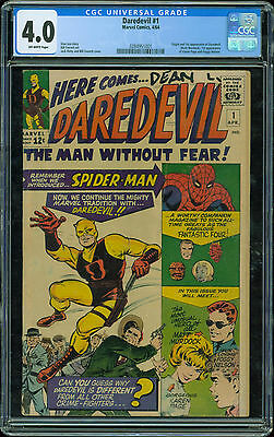Daredevil (Marvel Comics 1964) 1  CGC 4.0  off white pages