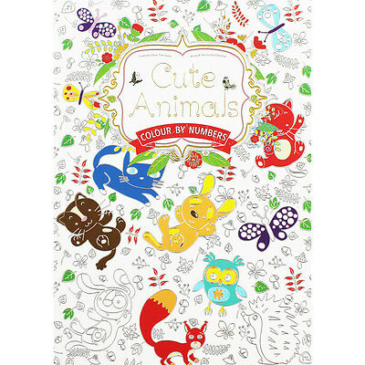 Cute Animals - Colour By Numbers (Paperback), Children's Books, Brand New