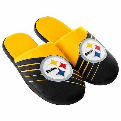 Pair Pittsburgh Steelers Big Logo Slide Slippers Team Color House shoes BLG16