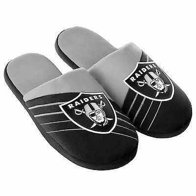 Pair Oakland Raiders Big Logo Slide Slippers Team Color House shoes BLG16 Style