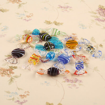 12pcs Vintage Murano Glass Sweets Wedding Party Candy Christmas Decor Gift
