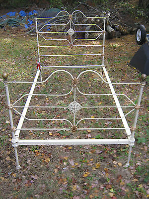 Antique Victorian Architectural Garden Cast Iron Brass Fineal Bedroom Room Bed