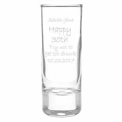 Engraved Shot Glass - 30 Birthday Ideas For Her
