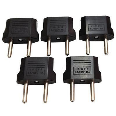 US/USA to European Euro EU Travel Chargers Adapter Plug Outlet Converters 5PCS