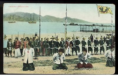 RPPC China Pirates About to be executed Color Postcard