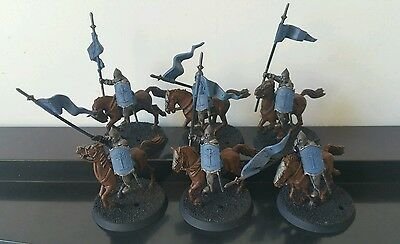 6 x Knights of Minas Tirith part well painted plastic models LOTR The Hobbit