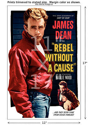 James Dean - Rebel without a Cause - 11x17 inch Vintage Film Movie Poster