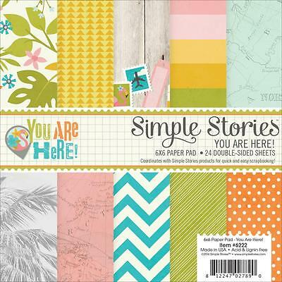 Simple Stories ~ YOU ARE HERE ~ 6x6 Paper Pad ~ 24 pcs