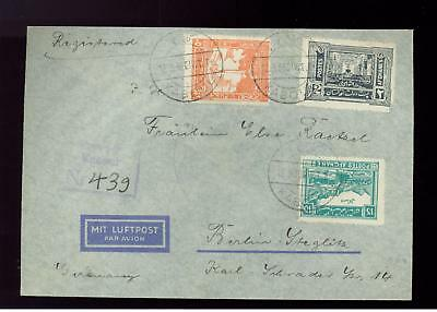 1938 Afghanistan Airmail Cover to Nazi Germany RARE!