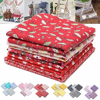 New 5Pcs 50x50cm Mixed Pattern Cotton Fabric Sewing Quilting Patchwork DIY Craft