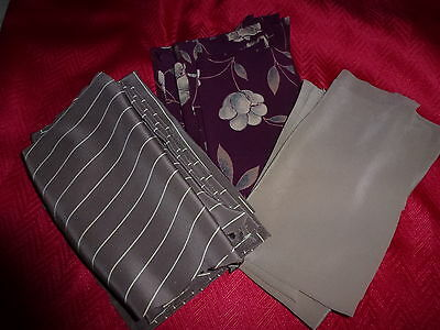 Lot of Various Quilting Fabric Pieces and Remnants silk Blend