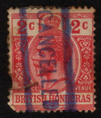 1913, British Honduras, 2c, Used, King George V, Sc 39