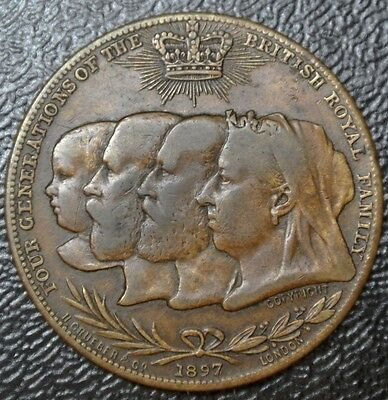 1837-1897 VICTORIA'S DIAMOND JUBILEE-Four Generation of the British ROYAL FAMILY