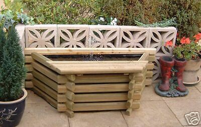 Garden Pool Flat Back 25 Gallon Fish Pond Tank + Pump Outdoor Water Feature