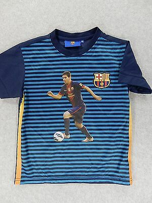 FC Barcelona Screened Player Soccer Jersey (#10 Messi) Kid s Size 8