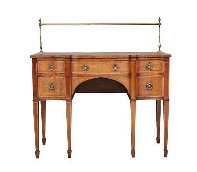 Early 20Th Century Mahogany Serpentine Sideboard