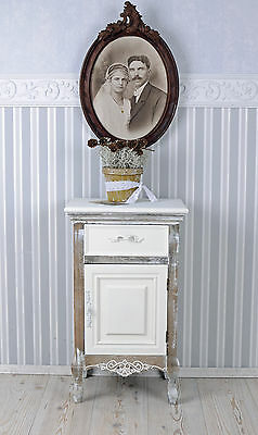 Antique Bedside Table Shabby Chic France Nightstand Night Commode Vintage
