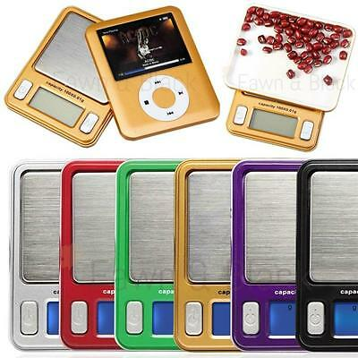 Electronic Digital Mini Pocket Weighing Scale Nano Mp3 LCD Display 100g x 0.01g