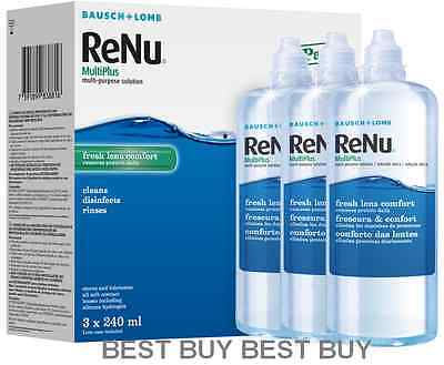 RENU MultiPlus Contact Lens Solution 3 Month Pack **3x240ml** LIMITED OFFER