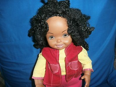 "2001 My Size  Kelly barbie sister black afro 16"" doll mattel"