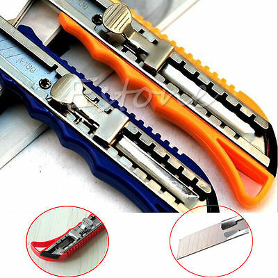 2 Utility Slide Snap Off Knife Box Cutter Blade Retractable Stainless Steel Hot