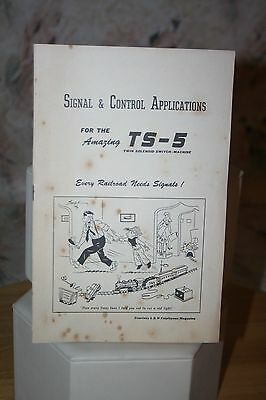 Walthers Signal & Control Applications Ts-5 Twin Solenoid Switch 1951 Manual