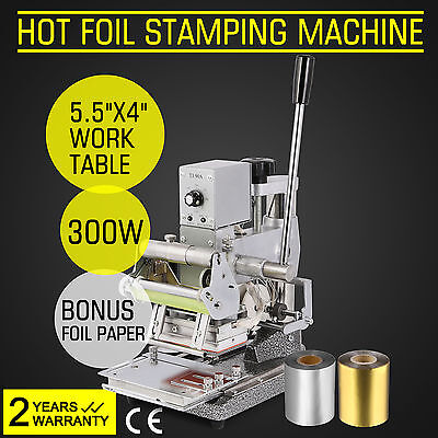 NEW Hot Foil Machine +2 Foil Paper Printing Stamping Embossing Wedding Cards