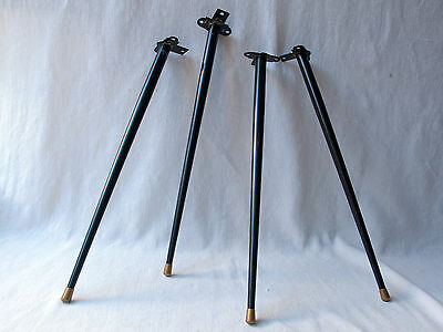 4 Mid Century Painted Metal Splayed Table Legs Tapered With Integrated Brackets