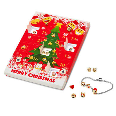 Christmas Emoji Jewellery Advent Calendar +8 Stunning Earrings Gift Present Xmas