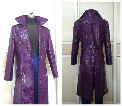 Suicide Squad Jared Leto Joker Jackt Cosplay Costume Coat Pants Adult New