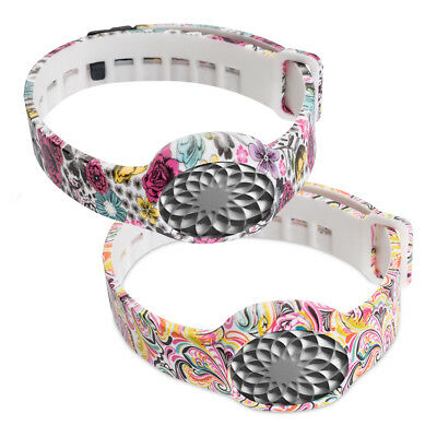 kwmobile  2X SILICONE SPARE BRACELET FOR JAWBONE UP MOVE FLOWERS DOTS