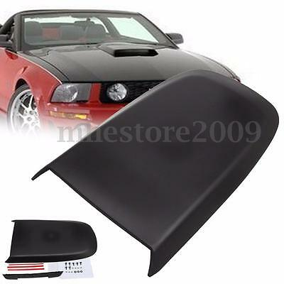 Car Front Hood Scoop Bonnet Vent Cover For Ford Mustang GT V8 2005-2009 Black