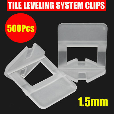 100/200/400x White Clips Tile Leveling System Spacers Tiling Flooring Tool 1.5mm