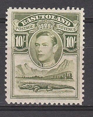 Basutoland 1938 Kgvi Crocodile 10/- Top Value